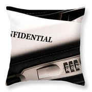 Confidential Documents Throw Pillow