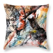 Conflict And Dialogue Throw Pillow