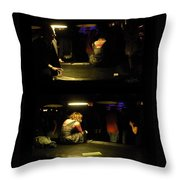 Conflicted Emotions Throw Pillow