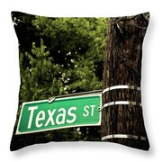 Confused Signage Throw Pillow