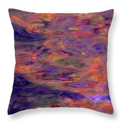 Contour Of Hot Energy Lines Throw Pillow