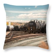 Congested Tracks Throw Pillow