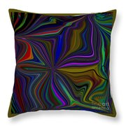 Conglomerate Of The Color Wheel Throw Pillow