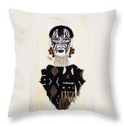 Congo Lady Throw Pillow