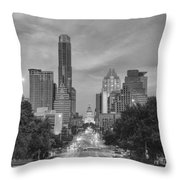 Congress Andtexas Capitol Black And White 1 Throw Pillow