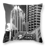 Congress Avenue Vista Throw Pillow