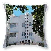 Congress Hotel Throw Pillow