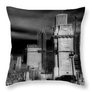 Congress Parkway Throw Pillow
