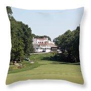 Congressional Blue Course - Par 5 11th Throw Pillow
