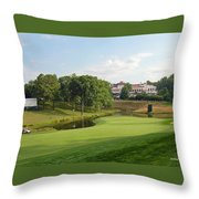 Congressional Blue Course - The Finish - Par 4 18th Throw Pillow