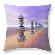Conical Geometric Progression Throw Pillow