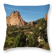Coniferous Trees In The Garden Of The Gods Throw Pillow