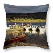 Coniston Water Boats Throw Pillow