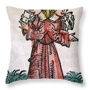 Conjoined Twins, Nuremberg Chronicle Throw Pillow