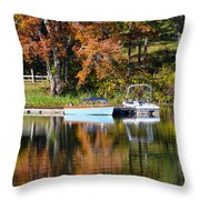 Connect Lake In The Fall Throw Pillow