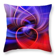 Connected Hearts Throw Pillow