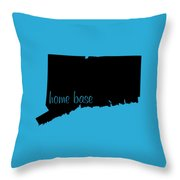 Connecticut Is Home Base Black Throw Pillow