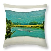 Connecticut River Between New Hampshire And Vermont Throw Pillow