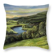 Connecticut River Valley View Two Throw Pillow