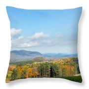 Connecticut Scenic Vista Throw Pillow