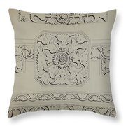 Connecticut-type Hadley Chest-detail Of Central Panel Throw Pillow