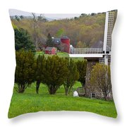 Connecticut Windmill. Throw Pillow