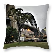 Connecting North And South Throw Pillow