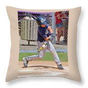 Connecting With The Ball Throw Pillow