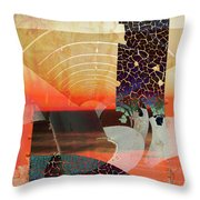 Connections In Space Throw Pillow