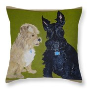 Connie's Pals Throw Pillow