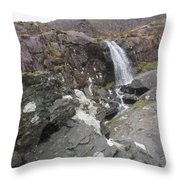 Connor Pass Waterfall Throw Pillow