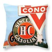 Conoco Sign 081117 Throw Pillow
