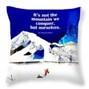Conquer Throw Pillow