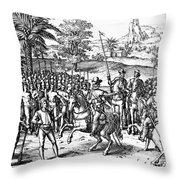 Conquest Of Inca Empire Throw Pillow