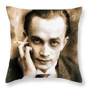 Conrad Veidt, Vintage Actor Throw Pillow