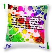 Conscious Decision Throw Pillow