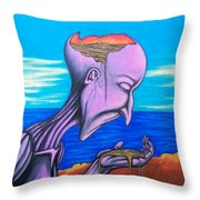 Conscious Thought Throw Pillow