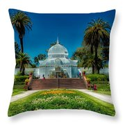 Conservatory Of Flowers - San Francisco Throw Pillow