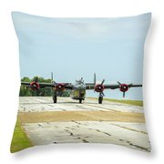 Consolidated B-24j Liberator Throw Pillow
