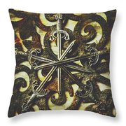 Conspirators Of The Crown Throw Pillow