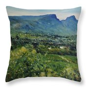 Constantia Valley Cape Town South Africa 2017 Throw Pillow