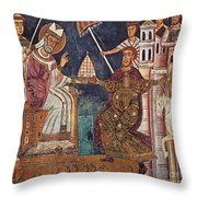 Constantine I (c280-337) Throw Pillow