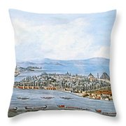 Constantinople Ships Throw Pillow