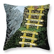 Constitution Cartoon Throw Pillow