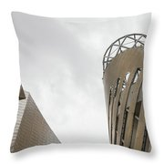 Constructed Using Stripes Throw Pillow