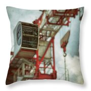 Construction Crane Throw Pillow by Wim Lanclus