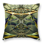 Construction Rings Throw Pillow
