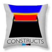 Constuctivist Poster Throw Pillow