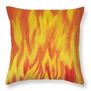 Consuming Fire Throw Pillow