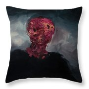 Consumption Series, Iv Throw Pillow by Daniel Hannih